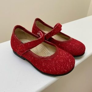 Gallucci Baby Girl Red Ballet Flats size 21